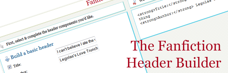 The Fanfiction Header Builder
